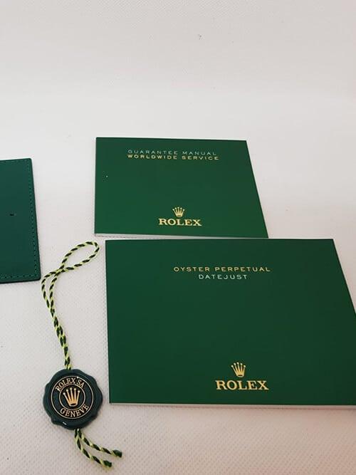 Das Echtheitszertifikat der Rolex Datejust II