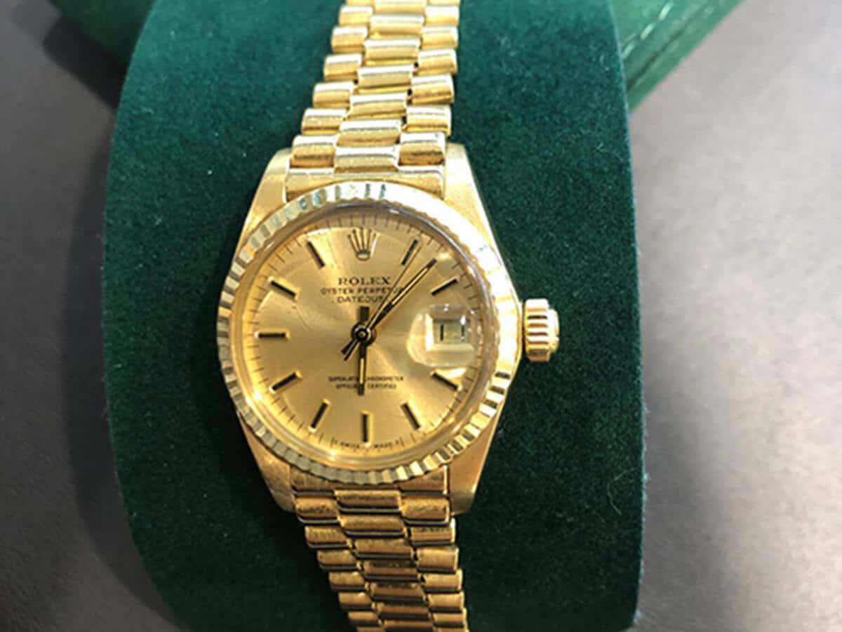 Für Goldjungen: Die Rolex Datejust in 750er Gelbgold