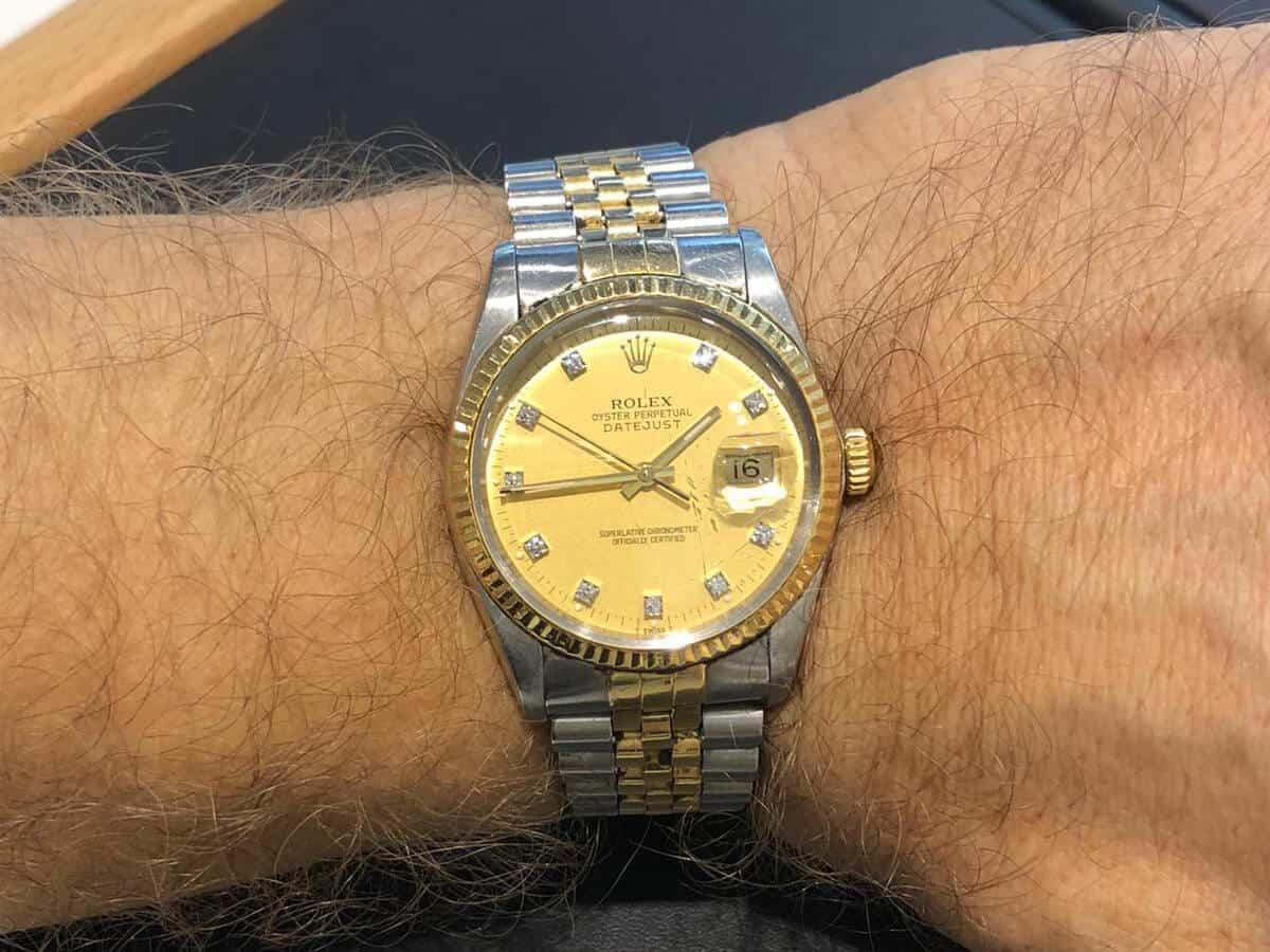 Eine glitzernde Schönheit: Rolex Datejust mit Brillanten-Ziffern