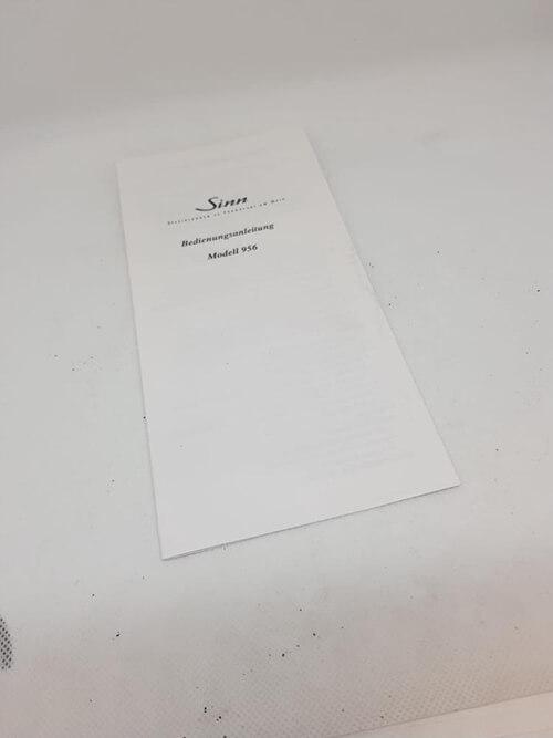 Zertifikat zur Echtheit der Sinn 956 Klassik Luxusuhr