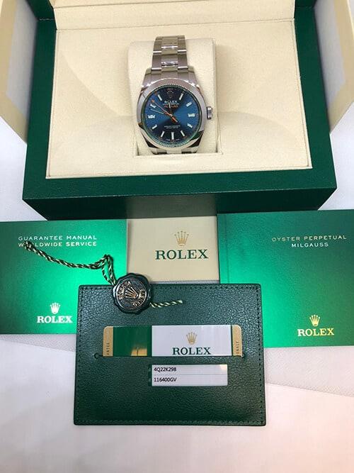 Gebrauchte Rolex Milgauss aus 2019 in ihrer Original-Verpackung