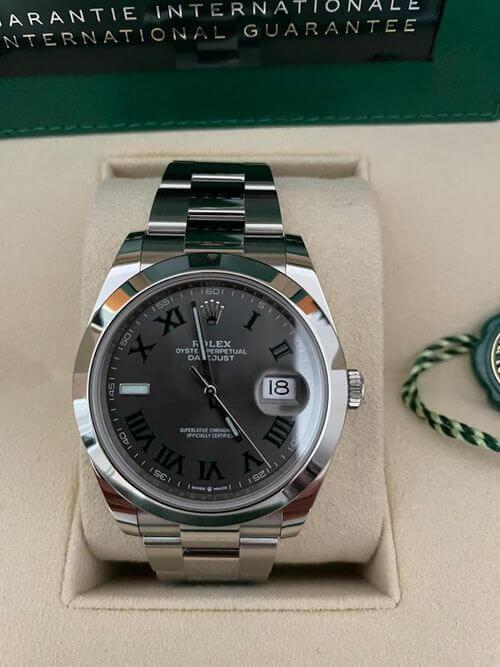 Rolex Datejust 41 Wimbeldon im Detail