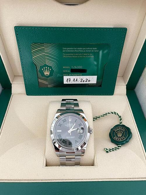 Rolex Datejust 41 Wimbeldon original verpackt