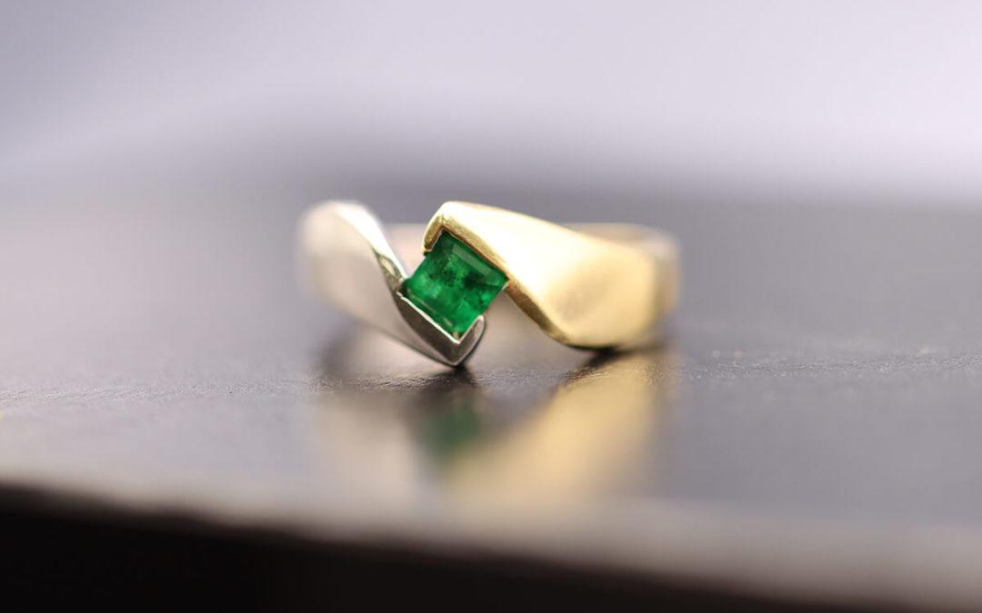Ausgefallene Hochzeitsringe: Trauringe mit Smaragden