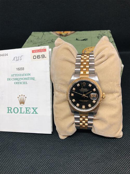Rolex Datejust Stahlgold 2002 und Echtheitszertifikat beim Altstadt Juwelier in Mainz